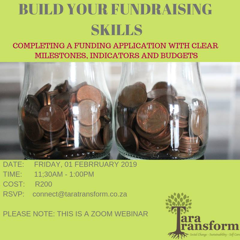 Fundraising webinar - Tara Transform